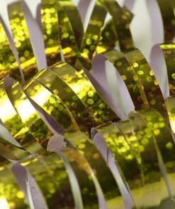 Luftschlange, holographisch-gold, 3,8 m, Beispielbild