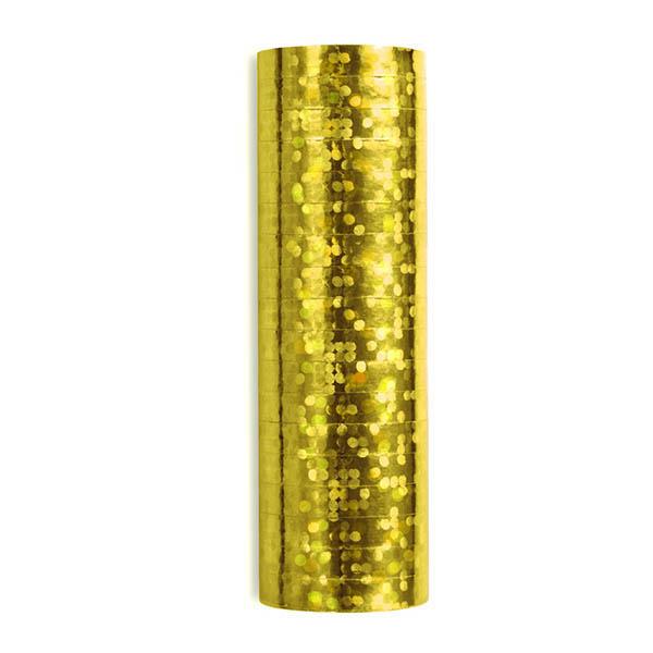 Luftschlange, holographisch-gold, 3,8 m