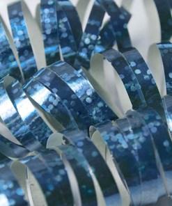 Luftschlange, holographisch-hellblau, 3,8 m, Beispielbild