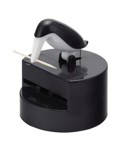 Zahnstocherspender-Vogel , Plastik schwarz-weiß, 11,5 x 9,3 x 9,3 cm
