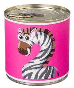 2 Cancake ''Numbers Kids Animals'' Edition Zahl 2 Zebra pink Brownie, D circa 8,5 cm, BALLONI
