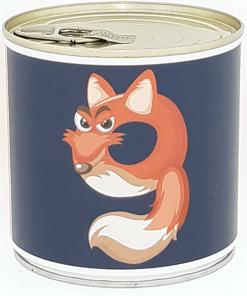 9 Cancake ''Numbers Kids Animals'' Edition Zahl 9 Fuchs schwarz Brownie, D circa 8,5 cm, BALLONI