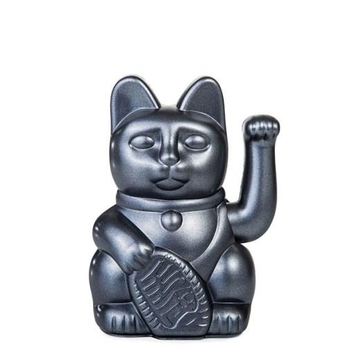 Lucky Cat, Kunststoff galaxy (pearl-grau), 1x AA-Batterie (nicht enthalten), 15 x 10,5 cm