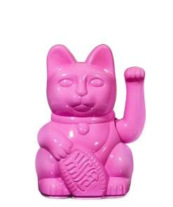 Lucky Cat, Kunststoff glossy pink, 1x AA-Batterie (nicht enthalten), 15 x 10,5 cm
