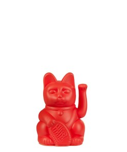 Lucky Cat mini, Kunststoff rot, 1x AA-Batterie (nicht enthalten), 6,7 x 5,2 x 9,8 cm BALLONI