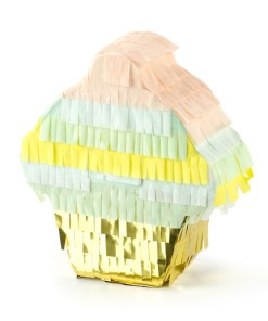 Mini-Pinata Muffin, Pappe, Pastell, gold, 9 x 10 x 3,5