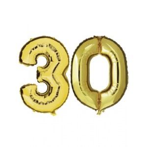 30 jaar jublileum ballonnen goud