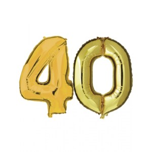 40 jaar folie ballonnen goud