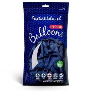 Ballonnen pastel blauw 100 stuks