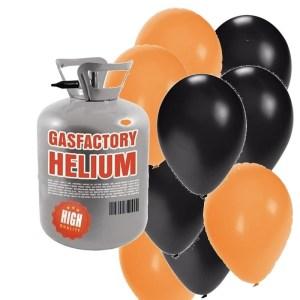 Helium tank met 50 Halloween ballonnen