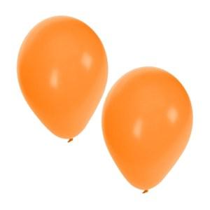 Oranje ballonnen 100 stuks