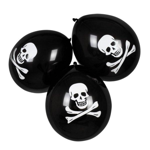 Piraten ballonnen zwart en wit