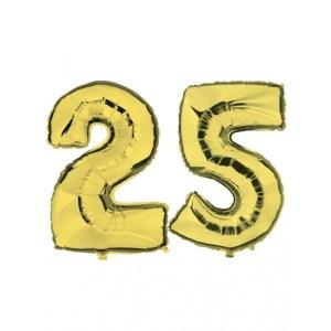 Verjaardag ballonnen 25 jaar goud