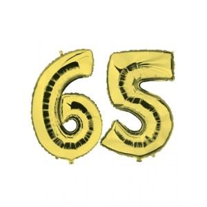 Verjaardag ballonnen 65 jaar goud