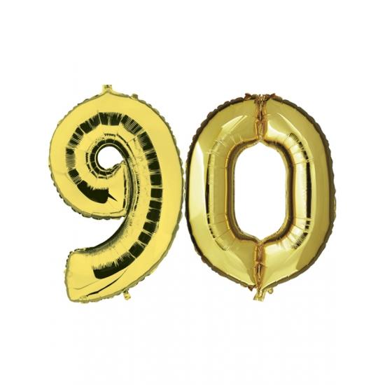 Verjaardag ballonnen 90 jaar goud