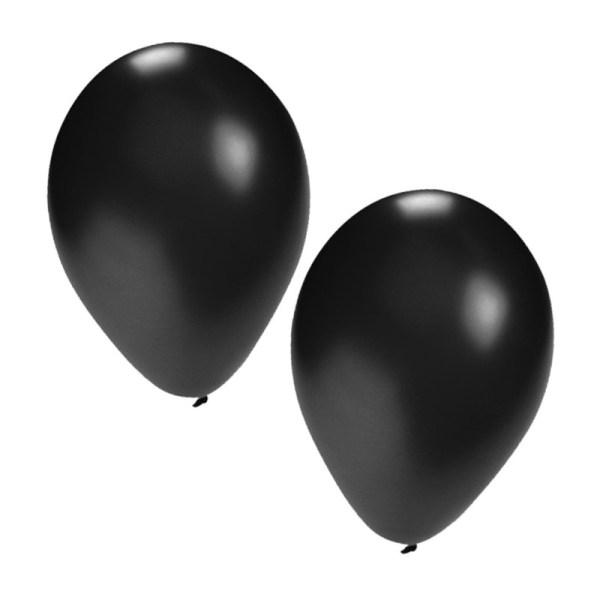 Zwarte decoratie ballonnen, 100 st