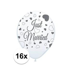 Ballonnen bruidspaar 16 st