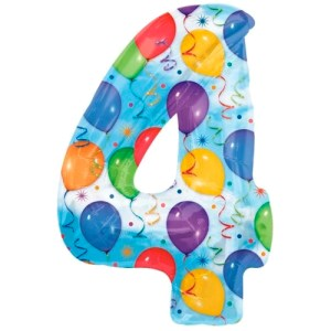 Nummer 4 (balloons) -50%