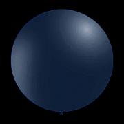 100 stuks - Decoratieve ballonnen - 28 cm - metallic donker blauw / navy blue professionele kwaliteit