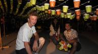 1000 lampions préparés pour le painel bresilien