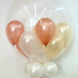 10 Miniballons im Ballon heliumbefüllt 45 cm