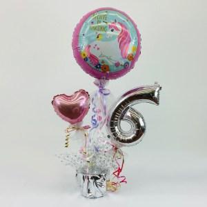 Tischdeko Ballon, Herz, Zahl
