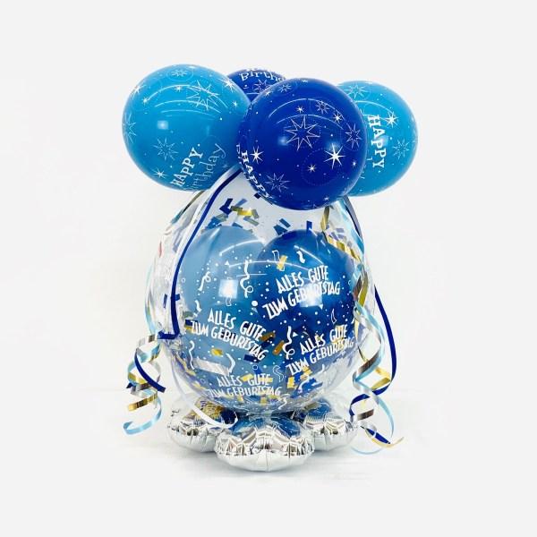 Geschenk-Ballon Blau 60cm