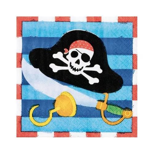Χαρτοπετσέτες μικρές με πειρατές (16 τεμ)