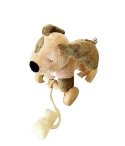 Λούτρινο Σκυλάκι ροδάκια- σχοινάκι