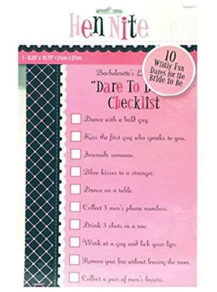 Παιχνίδι 'Dare to do it Checklist' για Bachelor party