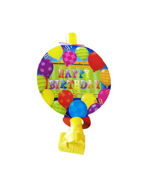 Blowouts Happy Bday με μπαλόνια (8 τεμ)