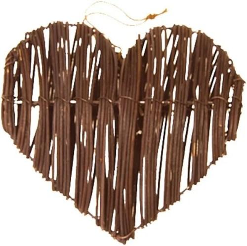 Διακοσμητική ξύλινη καρδιά σε 3 χρώματα (2 τεμ)