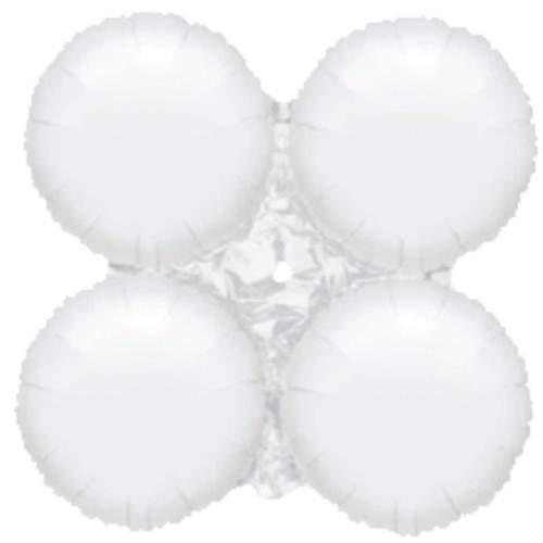 Μπαλόνι Λευκό 4πλο για γιρλάντα