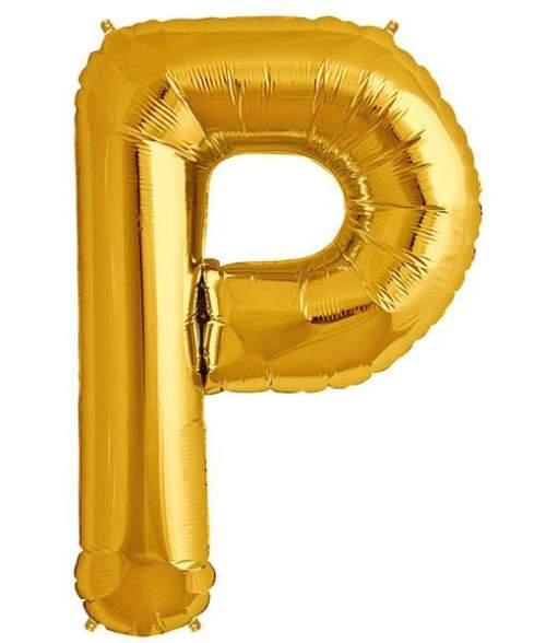 Τεράστιο Μπαλόνι 100 εκ Χρυσό Γράμμα P