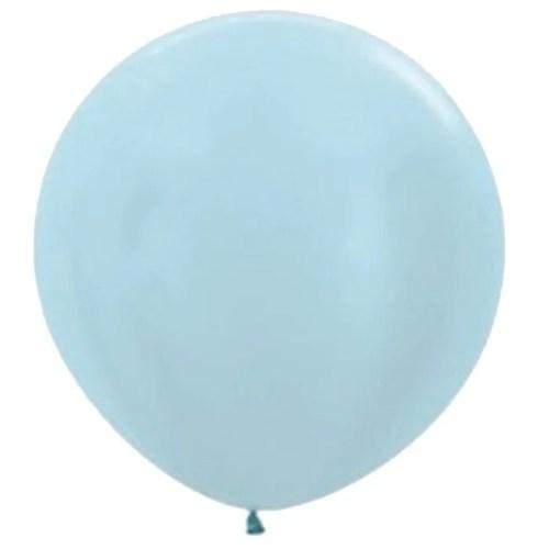 90cm - 36'' Γαλάζιο περλέ μεγάλο μπαλόνι