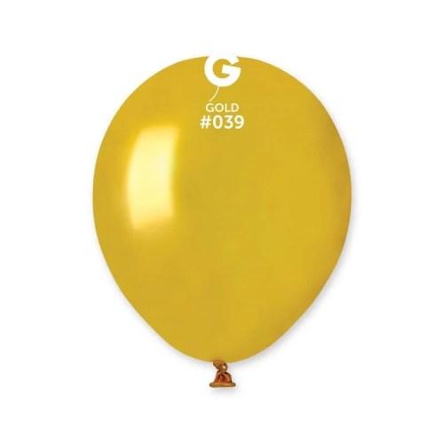 5'' Xρυσό μεταλλικό λάτεξ μπαλόνι