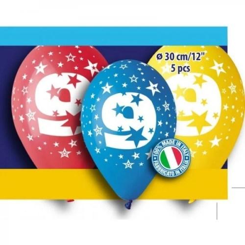 Μπαλόνια τυπωμένα για γενέθλια Νούμερο 9 (5 τεμ)