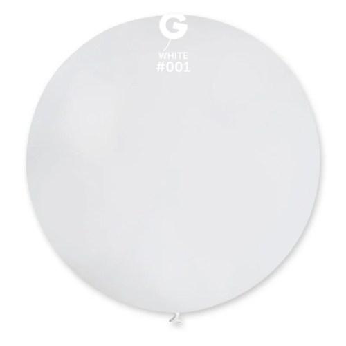 "80cm - 31"" Άσπρο μεγάλο μπαλόνι"