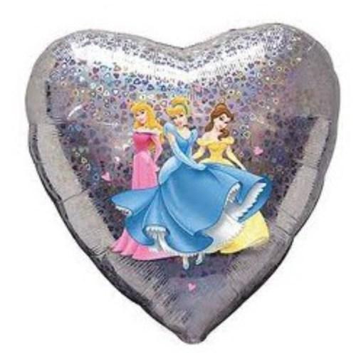 Μπαλόνι Καρδιά ασημί Πριγκίπισσες Disney 45 εκ