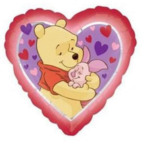 Μπαλόνι Winnie the pooh & γουρουνάκι Καρδιά
