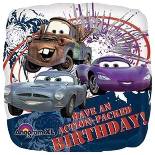 Μπαλόνι τετραγωνο Cars Disney 'Happy Birthday'