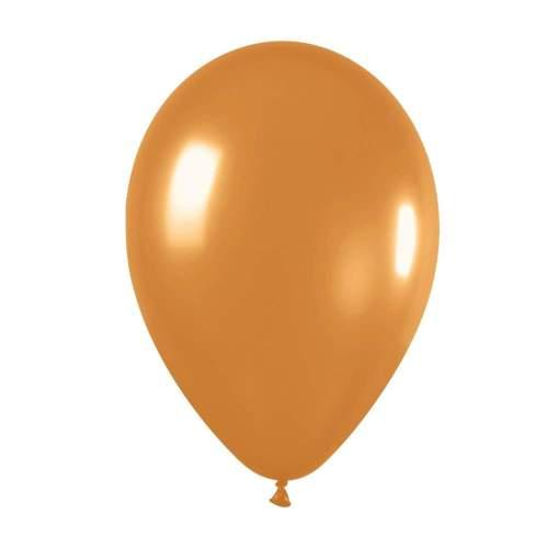 """9"""" Μεταλλικό Χρυσαφί λάτεξ μπαλόνι"""