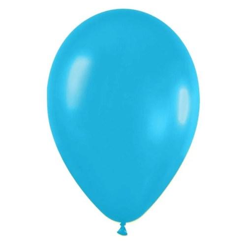 9'' Γαλάζιο Καραιβικής λάτεξ μπαλόνι