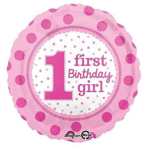 Μπαλόνι για γενέθλια Ροζ First Birthday Girl