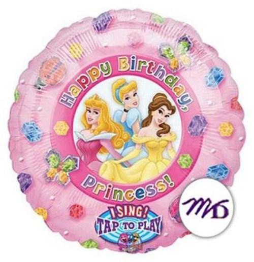 Μπαλόνι για γενέθλια Πριγκίπισσες μουσικό 45 εκ