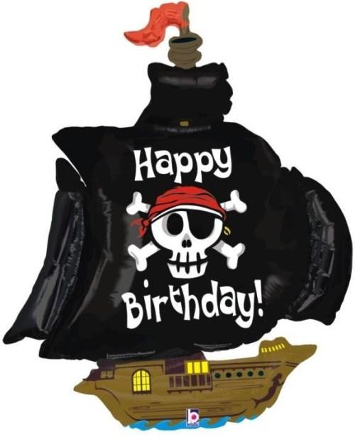 Μπαλόνι για γενέθλια Πειρατικό Καράβι 'Happy Birthday'
