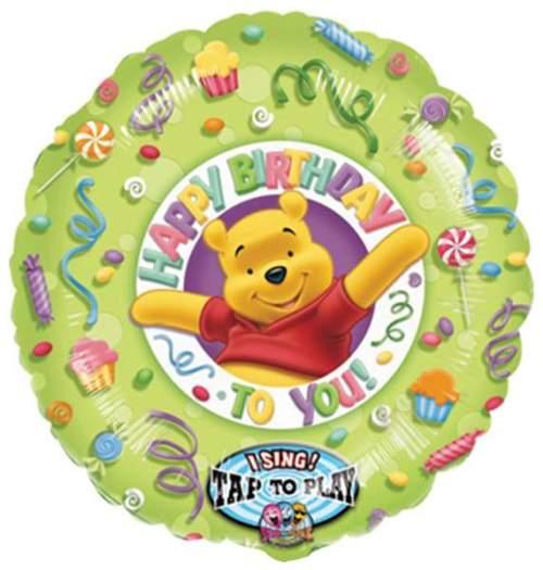 Μπαλόνι μουσικό Winnie the pooh 'Happy Birthday'