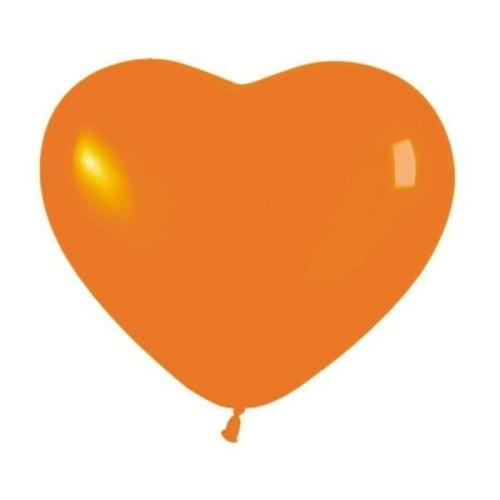 """6"""" Μπαλόνι καρδιά πορτοκαλί"""