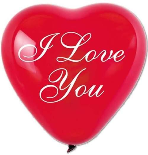 """16"""" Μπαλόνι τυπωμένο Καρδιά ρομαντική I love you"""