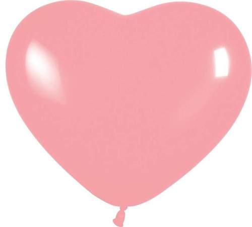 """12"""" Μπαλόνι καρδιά ροζ"""